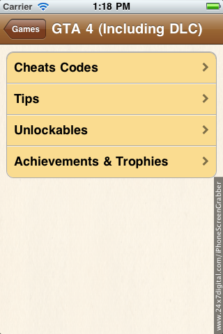 Screenshot Famous Games Cheats,guide and tricks for iPhone,Xbox,Ps3